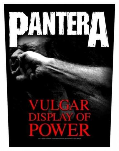 PANTERA - Vulgar Display Of Power Backpatch Rückenaufnäher
