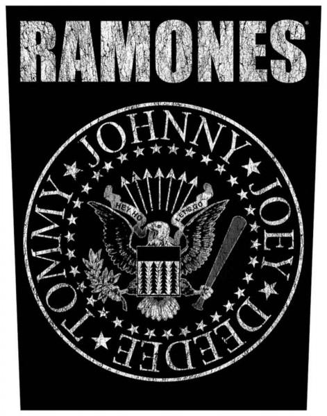 THE RAMONES - Classic Seal Backpatch Rückenaufnäher