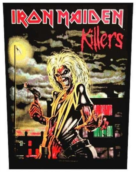 IRON MAIDEN - Killers Backpatch Rückenaufnäher