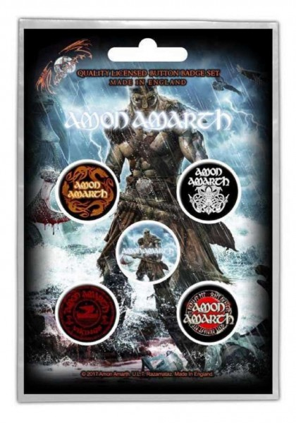 AMON AMARTH - Jomsviking Button-Set Badge Pack