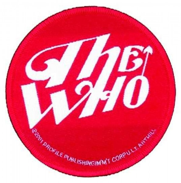 THE WHO - Red Logo Patch Aufnäher