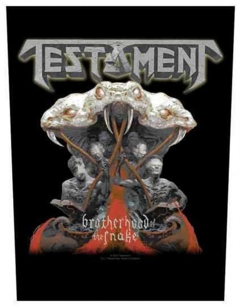 TESTAMENT - Brotherhood Of The Snake Backpatch Rückenaufnäher