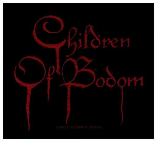 CHILDREN OF BODOM - red logo Patch Aufnäher