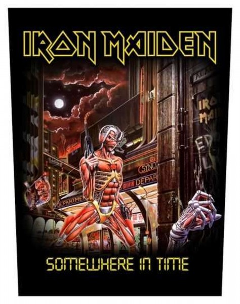 IRON MAIDEN - Somewhere In Time Backpatch Rückenaufnäher