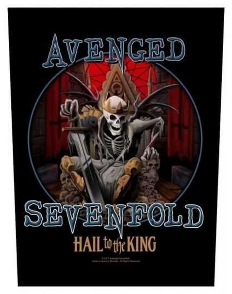 AVENGED SEVENFOLD - Hail To The King Backpatch Rückenaufnäher