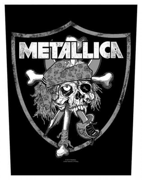 METALLICA - Raiders Skull Backpatch Rückenaufnäher