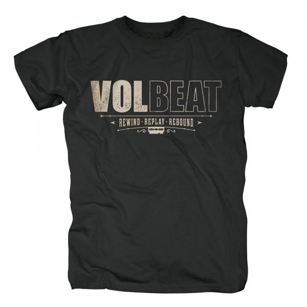 VOLBEAT - Distressed Logo Rewind Replay Rebound T-Shirt
