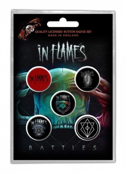 IN FLAMES - Battles Button-Set Badge Pack
