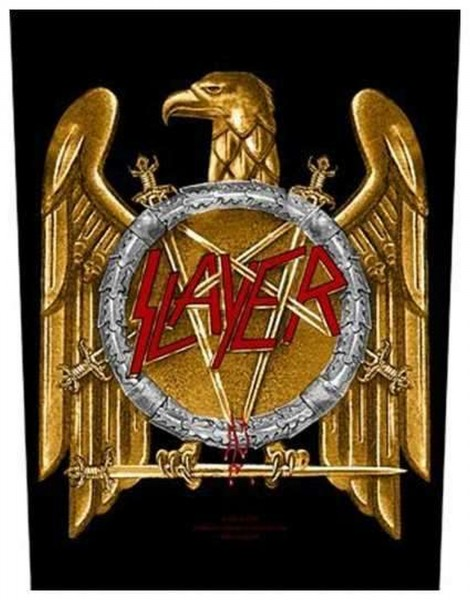 SLAYER - Golden Eagle Backpatch Rückenaufnäher