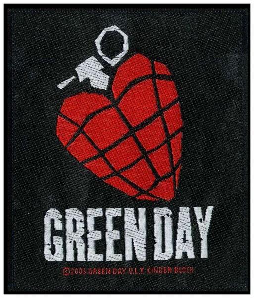 GREEN DAY - Heart Grenade Patch Aufnäher